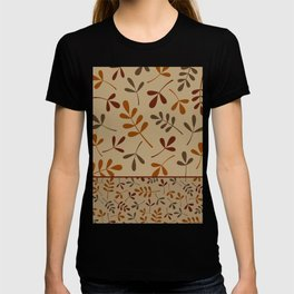 Fall Color Assorted Leaf Silhouettes II T-shirt