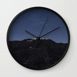 Hollywood At Night Wall Clock