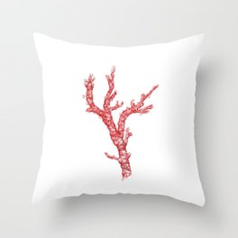 red coral - corallium rubrum Throw Pillow