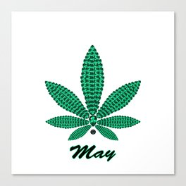 Birthstoned Leaf of Month, May Emerald Canvas Print