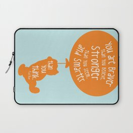 You are Braver than you Believe, Stronger than you Seem and Smarter than you think - Winnie the Pooh Laptop Sleeve