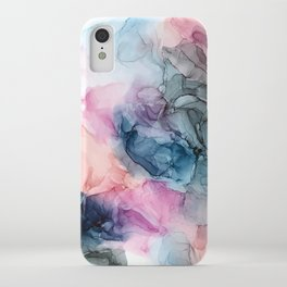 Heavenly Pastels: Original Abstract Ink Painting iPhone Case