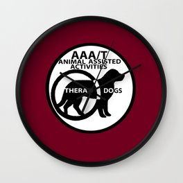 Animal Assisted Activities  - THERAPY DOG logo 15 Wall Clock