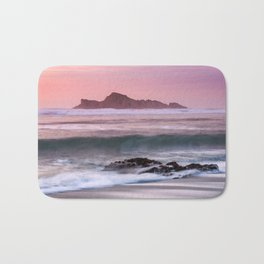 Waves Break at Cape Blanco State Park during Sunset Bath Mat