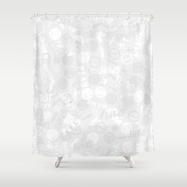 Tennis. Grey Pattern. Shower Curtain