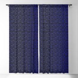 Binary Blue Blackout Curtain