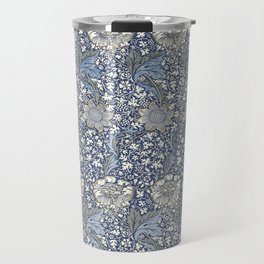 William Morris Navy Blue Botanical Pattern 7 Travel Mug