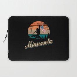 Minnesota USA Flag Laptop Sleeve