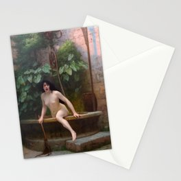 Truth Coming Out Of Her Well To Shame Mankind Jean-Leon Gerome Stationery Cards