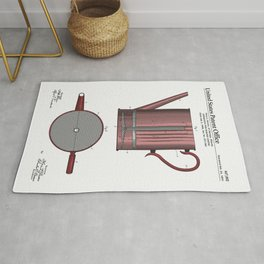 Coffee Press Patent Rug
