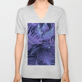Purpple Ferns Unisex V-Neck