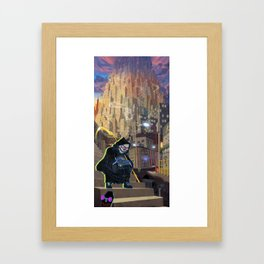 Uncle Death and the Tower of Barbs Framed Art Print