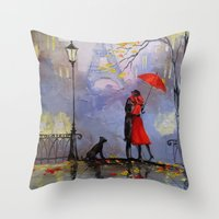 romantic Throw Pillows featuring Romantic by OLHADARCHUK