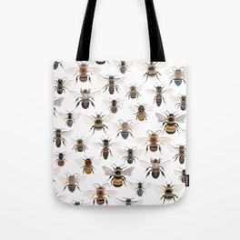 A Collection of Native Bees Tote Bag