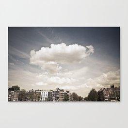 Amsterdam Clouds Canvas Print