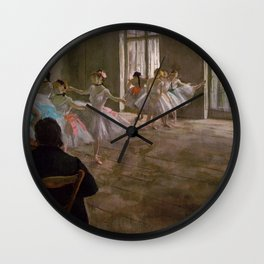 Edgar Degas - L'école de danse. La répétition.jpg Wall Clock