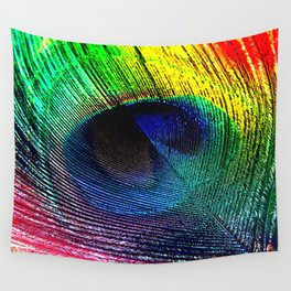 pluma de pavo real ( peacock feather ) Wall Tapestry