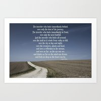 The Mindful Traveller Art Print