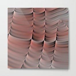 Peach Abstract Metal Print