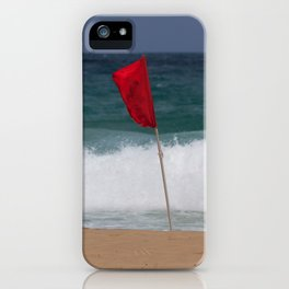 Red flag No Swimming iPhone Case