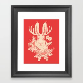 Jackalope Tattoo Framed Art Print