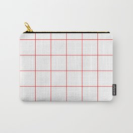 Graph Paper (Red & White Pattern) Carry-All Pouch