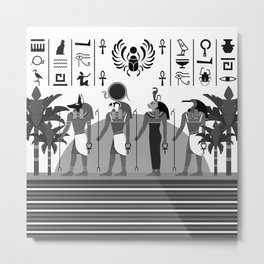 Egyptian B/W Metal Print