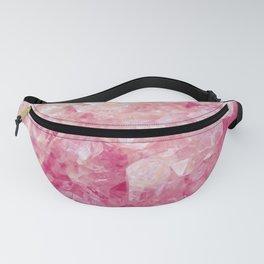 Pink Rose Quartz Crystals Fanny Pack