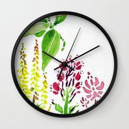 Plant Friends Wall Clock