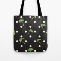 palm trees Tote Bags featuring Palm Trees by BTP Designs