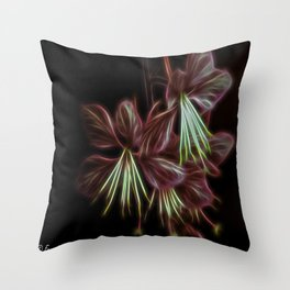 Electric Floral  Throw Pillow