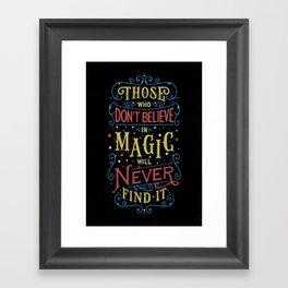 Magic – Roald Dahl Quote Framed Art Print