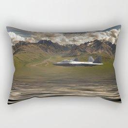 Jet Over Water Rectangular Pillow