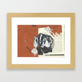 Old English Badger Framed Art Print