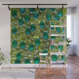 Aqua Droplets Wall Mural