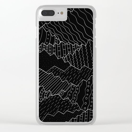The black and white mountains Clear iPhone Case