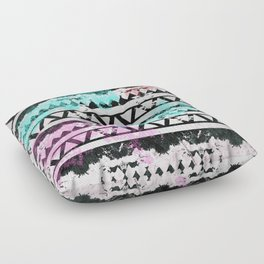 Black and White Aztec Pattern Floor Pillow