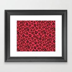 Pink and Red Jaguar Framed Art Print