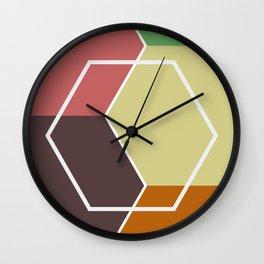 Earthen Angles Wall Clock