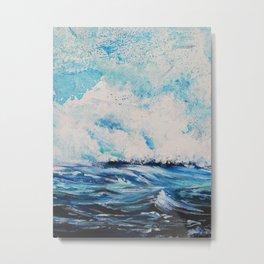 Waves on the Sea Metal Print