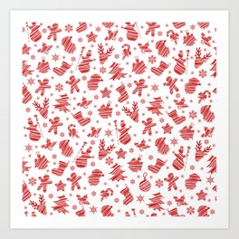 Seamless Christmas pattern Art Print