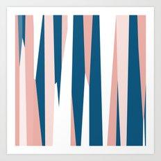 Peachy blue Art Print