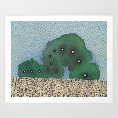 Cosmic Caterpillar Art Print