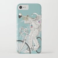 louis armstrong iPhone & iPod Cases featuring armstrong by mauro mondin