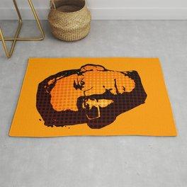 EDWARD SNOWDEN - orange Rug