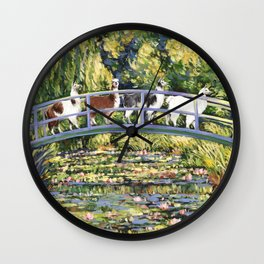 Llama and The Water Lily Pond Wall Clock