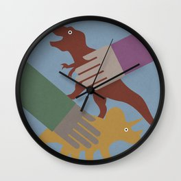Playing with Dinosaurs Wall Clock