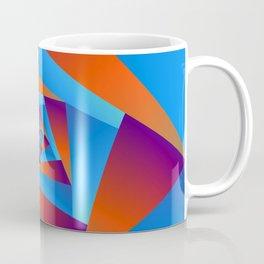 Orange and Blue Spiral Coffee Mug