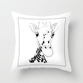 Minimal giraf Throw Pillow