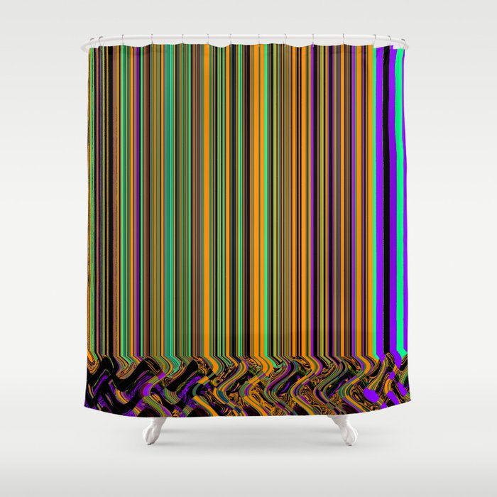 Party Invite Shower Curtain